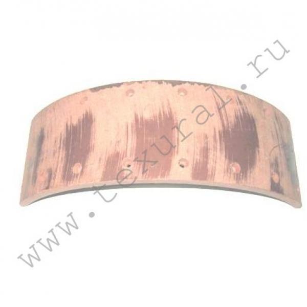 Накладка колодки фрикционная рабочего тормоза (сверленая)-TexUral